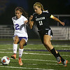 9-14-17<br /> Northwestern vs Western girls soccer<br /> NW's Sasha Jocius and Western's Hannah Granfield go after the ball.<br /> Kelly Lafferty Gerber | Kokomo Tribune