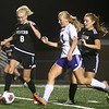 9-14-17<br /> Northwestern vs Western girls soccer<br /> Western's Grace Sullivan regains control of the ball over NW's Olivia Hale.<br /> Kelly Lafferty Gerber | Kokomo Tribune