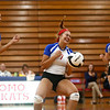 9-13-17<br /> Kokomo vs North Miami volleyball<br /> Gabby Cooper celebrates with teammates after spiking the ball.<br /> Kelly Lafferty Gerber | Kokomo Tribune