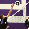 9-26-17<br /> Northwestern vs Western volleyball<br /> NW's Kendall Bostic.<br /> Kelly Lafferty Gerber | Kokomo Tribune