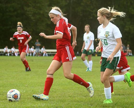 9-27-17<br /> Eastern vs Taylor girls soccer<br /> Taylro's Fallon Shane.<br /> Kelly Lafferty Gerber | Kokomo Tribune