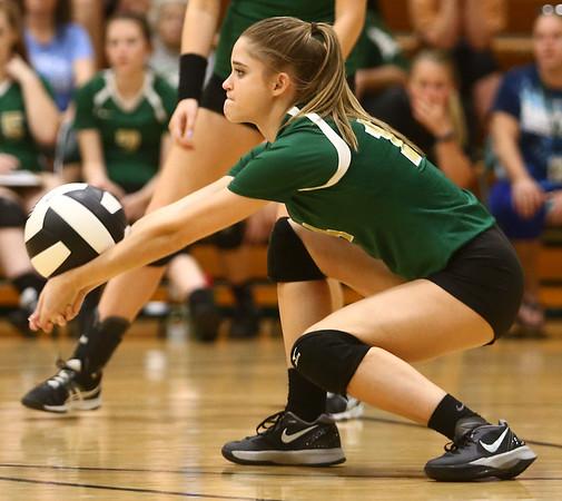 9-21-17<br /> Eastern vs Taylor volleyball<br /> Eastern's Courtney Elliott<br /> Kelly Lafferty Gerber   Kokomo Tribune