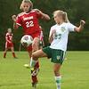 9-27-17<br /> Eastern vs Taylor girls soccer<br /> Taylor's Kirsten Alexander and Eastern's Cassie Bryan.<br /> Kelly Lafferty Gerber | Kokomo Tribune