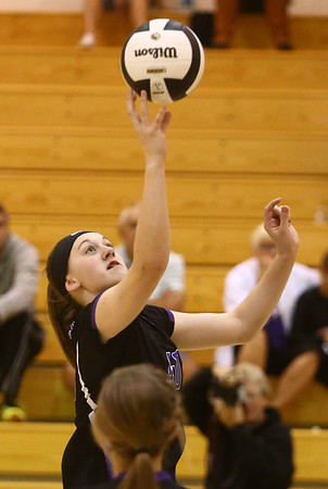 9-30-17<br /> Hoosier Conference tournament-Northwestern volleyball<br /> Steph Burns<br /> Kelly Lafferty Gerber   Kokomo Tribune
