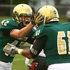 9-8-17<br /> Eastern vs Taylor football<br /> Eastern's Tytus Morrisett celebrates with Tyler Hurston after Morrisett makes a touchdown.<br /> Kelly Lafferty Gerber | Kokomo Tribune