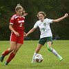 9-27-17<br /> Eastern vs Taylor girls soccer<br /> Taylor's Austyn Huffer and Eastern's Ellie Moore.<br /> Kelly Lafferty Gerber | Kokomo Tribune