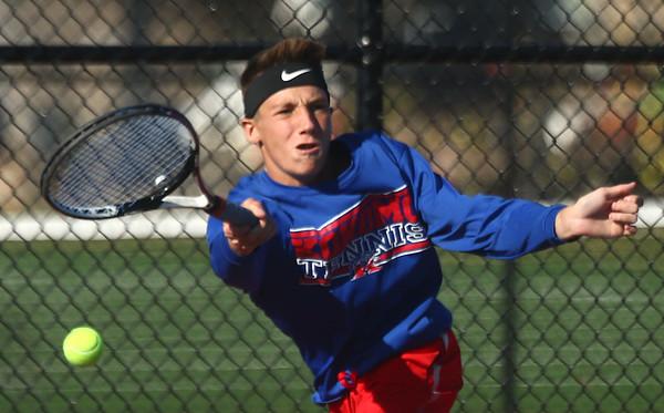 9-28-17<br /> Boys sectional tennis<br /> Kokomo 1 doubles Payton McClain<br /> Kelly Lafferty Gerber   Kokomo Tribune