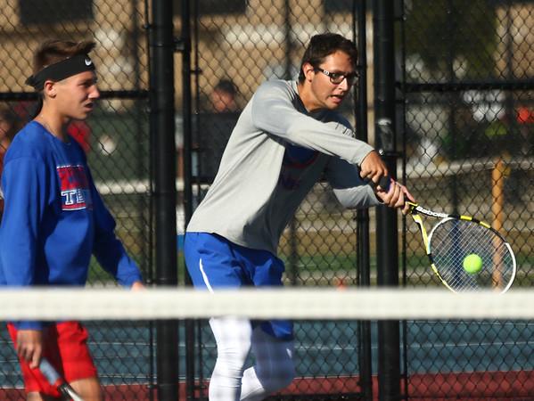 9-28-17<br /> Boys sectional tennis<br /> Kokomo 1 doubles Nate Hemmerich<br /> Kelly Lafferty Gerber | Kokomo Tribune