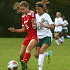 9-27-17<br /> Eastern vs Taylor girls soccer<br /> Taylor's Austyn Huffer and Eastern's Heidi Williams<br /> Kelly Lafferty Gerber | Kokomo Tribune