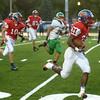 9-22-17<br /> Kokomo vs Anderson football<br /> Steven Edwards runs the ball for a touchdown.<br /> Kelly Lafferty Gerber | Kokomo Tribune