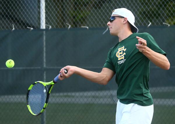 9-7-17<br /> Eastern vs Taylor boys tennis<br /> Eastern 1 singles Isaac Beachy<br /> Kelly Lafferty Gerber | Kokomo Tribune
