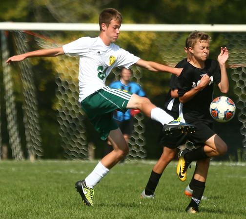 9-16-17<br /> Eastern vs Western boys soccer<br /> Eastern's Joey Haynes<br /> Kelly Lafferty Gerber | Kokomo Tribune