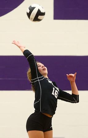 9-26-17<br /> Northwestern vs Western volleyball<br /> Western's Haley Berry.<br /> Kelly Lafferty Gerber   Kokomo Tribune