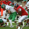 9-22-17<br /> Kokomo vs Anderson football<br /> Kokomo's Javias Gray tackles Anderson's Elijah Merida.<br /> Kelly Lafferty Gerber | Kokomo Tribune