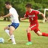 9-19-17<br /> Tri Central vs Taylor boys soccer<br /> TC's Nathan Mast heads for the goal.<br /> Kelly Lafferty Gerber | Kokomo Tribune