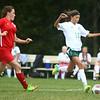 9-6-17<br /> Eastern vs Maconaquah girls soccer<br /> Eastern's Heidi Williams makes a kick.<br /> Kelly Lafferty Gerber   Kokomo Tribune