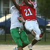 9-22-17<br /> Kokomo vs Anderson football<br /> Steven Edwards breaks up a pass meant for Anderson.<br /> Kelly Lafferty Gerber | Kokomo Tribune