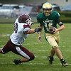 9-1-17<br /> Eastern vs Wes-Del football<br /> Nolan Grubb runs the ball.<br /> Kelly Lafferty Gerber | Kokomo Tribune