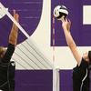 9-26-17<br /> Northwestern vs Western volleyball<br /> NW's Steph Burns hits it over the net.<br /> Kelly Lafferty Gerber | Kokomo Tribune
