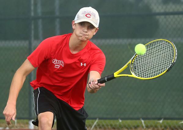 9-7-17<br /> Eastern vs Taylor boys tennis<br /> Taylor 3 singles Wynn Takacs<br /> Kelly Lafferty Gerber | Kokomo Tribune