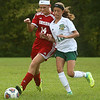 9-27-17<br /> Eastern vs Taylor girls soccer<br /> Taylor's Katlianna Tucker and Eastern's Heidi Williams.<br /> Kelly Lafferty Gerber | Kokomo Tribune