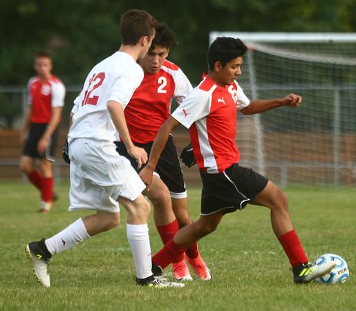 9-12-17<br /> Kokomo vs Logansport boys soccer<br /> Logansport's Marco Macias<br /> Kelly Lafferty Gerber | Kokomo Tribune