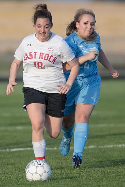 Sydney Thayer chases Rachel Marshall