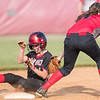 Meredith Dean safely slides in to steal second base