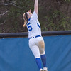 Taylor Carpenter Makes a leaping catch at the center field fence.