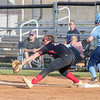Page's Morgan Treger beats the play at first