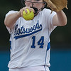 Kristen Fletcher pitches in the second inning.