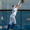 Eliabeth Ritchie makes a catch in the outfield off a hit from Alia Miller