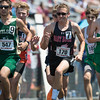 Bryce Peterson competes om the 1600M