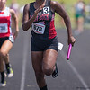 Koshina Jefferson races down the last 100m for the girls 4x100 relay