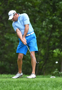 KRISTIN BAUER | CHRONICLE Kip Matteson drives the ball during the UH Elyria Medical Center 16th Annual Foundation Golf Classic outing held at Elyria Country Club on Monday afternoon, July 24.