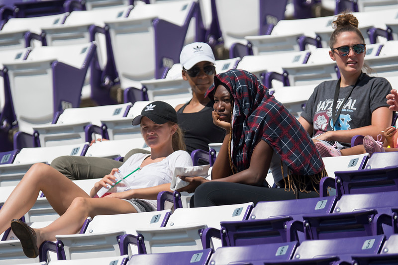 The Weber State Wildcats put on a football scrimmage on Thursday August 17, 2017 at Stewart Stadium at the campus of Weber State in Ogden.