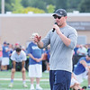 Star Photo/Bryce Phillips <br /> Dallas Cowboys' Jason Witten addresses campers during Saturday's football camp.