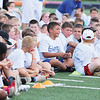 Star Photo/Bryce Phillips <br /> A camper asks professional football player Jason Witten a question.