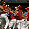 8/12/2017 Mike Orazzi | Staff<br /> New Jersey celebrates after winning the Mid-Atlantic Regional Final at the Eastern Regional Little League Tournament at Breen Field in Bristol Saturday night.