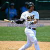 5/27/2017 Mike Orazzi | Staff<br /> New Britain Bees' Craig Maddox (24) during Saturday's game with the Southern Maryland Blue Crabs.