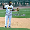 5/27/2017 Mike Orazzi | Staff<br /> New Britain Bees' Jovan Rosa (35) during Saturday's game with the Southern Maryland Blue Crabs.