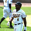 5/27/2017 Mike Orazzi | Staff<br /> New Britain Bees' Jamar Walton (6) during Saturday's game with the Southern Maryland Blue Crabs.