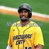 8/29/2017 Mike Orazzi | Staff<br /> New Britain Bees' Michael Crouse (10) during Tuesday's game with the Sugar Land Skeeters.