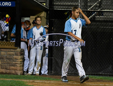 8/12/2017 Mike Orazzi   Staff Maryland's Logan Simanski (17) after a loss in the Mid-Atlantic Regional Final at the Eastern Regional Little League Tournament at Breen Field in Bristol Saturday night.