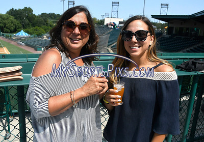 8/26/2017 Mike Orazzi | Staff Mother and daughter Renee and Nicollette Bordo during Beers in the Ballpark at New Britain Stadium Saturday.
