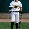 4/15/2017 Mike Orazzi | Staff<br /> New Britain Bees' Craig Maddox (24) Saturday at New Britain Stadium.