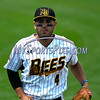 5/27/2017 Mike Orazzi | Staff<br /> New Britain Bees' Steve Carrillo (4) during Saturday's game with the Southern Maryland Blue Crabs.