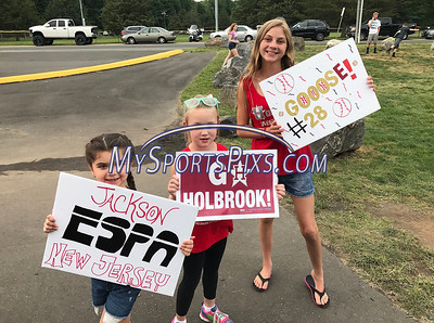 8/12/2017 Mike Orazzi   Staff New Jersey fans during the Mid-Atlantic Regional Final at the Eastern Regional Little League Tournament at Breen Field in Bristol Saturday night.