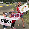 8/12/2017 Mike Orazzi | Staff<br /> New Jersey fans during the Mid-Atlantic Regional Final at the Eastern Regional Little League Tournament at Breen Field in Bristol Saturday night.
