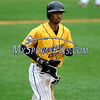 8/29/2017 Mike Orazzi | Staff<br /> New Britain Bees' James Skelton (3) during Tuesday's game with the Sugar Land Skeeters.